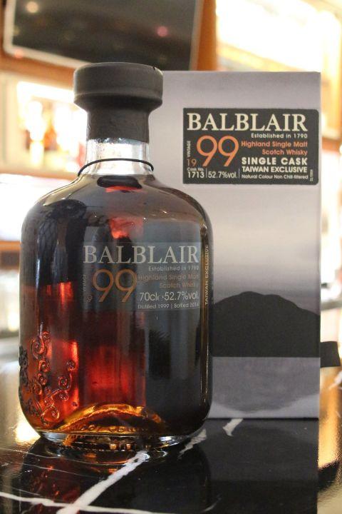 BALBLAIR 1999 Taiwan Exclusive Single Cask 巴布萊爾 1999 台灣限定 單桶 (700ml 52.7%)