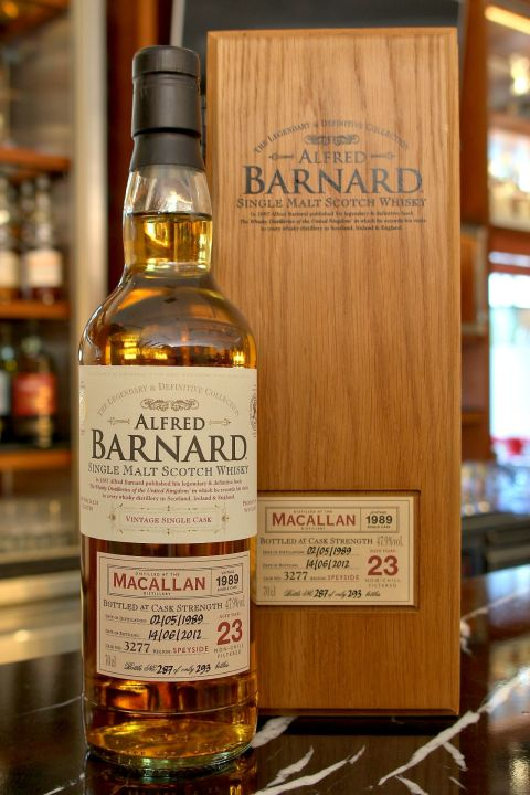(現貨) ALFRED BARNARD Macallan 1989 23 years Single Cask 麥卡倫 1989 23年 單桶原酒 (700ml 47.9%)