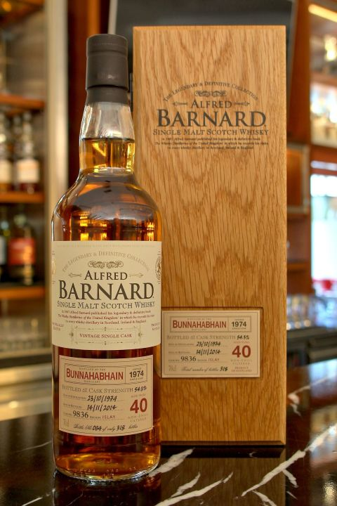 (現貨) ALFRED BARNARD Bunnahabhain 1974 40 years Single Cask 布納哈本 1974 40年 單桶原酒 (700ml 54.3%)