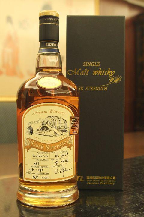 TTL Nantou Distillery Bourbon Cask WWA 台酒 南投酒廠 WWA銅牌 波本單桶 (700ml 53.9%)