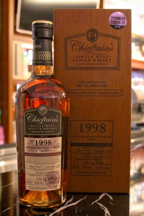 (現貨) Chieftain's Vintage 1998 Sherry Butt 老酋長 1998 單桶 雪莉桶 (700ml 55.9%)