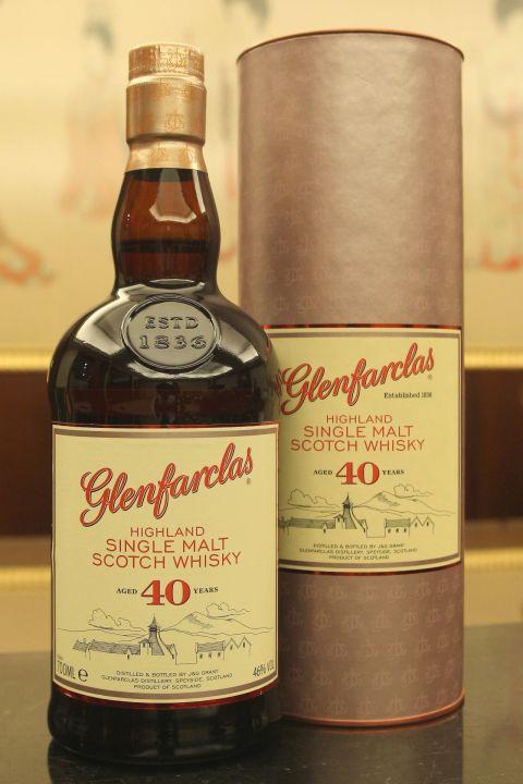 (現貨) Glenfarclas 40 years 格蘭花格 40年 舊版 (700ml 46%)