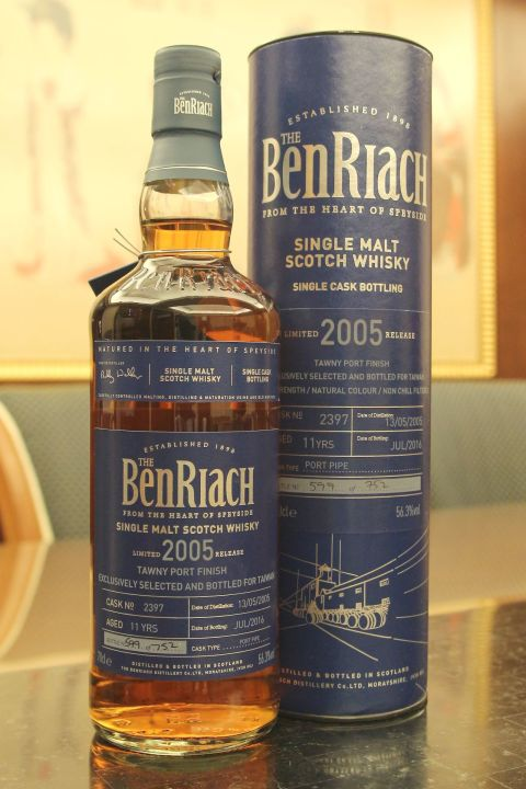 (現貨) BenRiach 2005 11 years Exclusively for Taiwan 班瑞克 2005 11年 波特單桶 台灣限定 (700ml 56.3%)