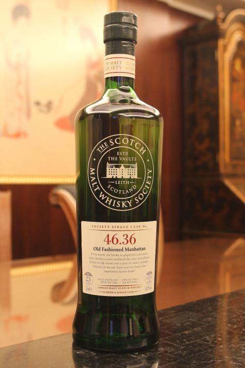 (現貨) SMWS 46.36 Glenlossie 23 years 格蘭洛希 單桶原酒 23年 蘇格蘭威士忌協會 (700ml 54.9%)