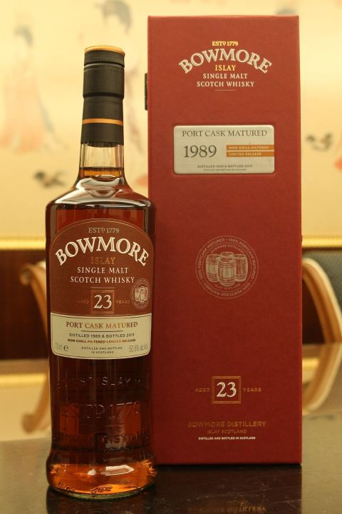 (現貨) ​BOWMORE 1989 23 years Port Cask Matured 波摩 1989 23年 波特桶 (700ml 50.8%)