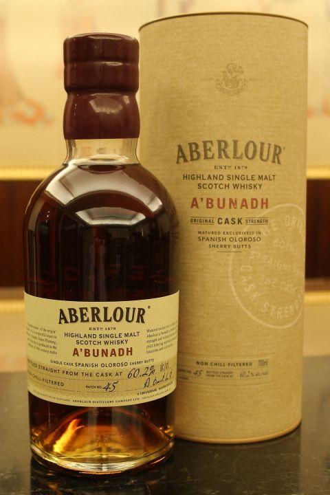 Aberlour A'bunadh Batch 45 亞伯樂 雪莉桶原酒 第45批次 (700ml 60.2%)
