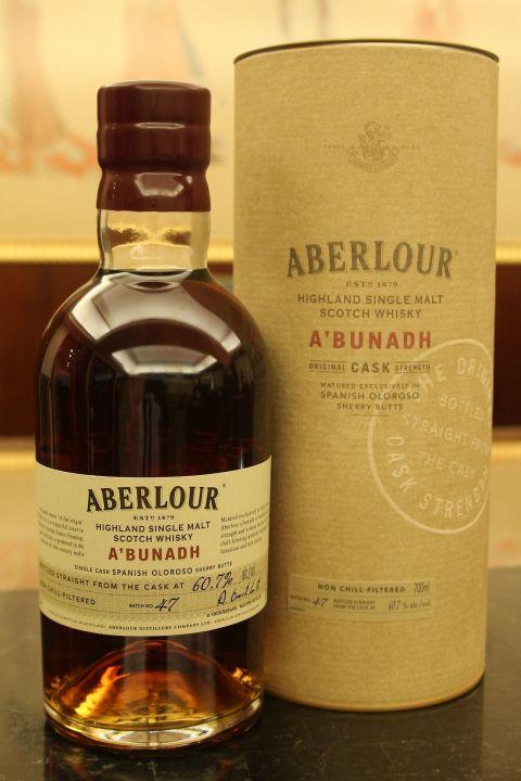 (現貨) Aberlour A'bunadh Batch 47 亞伯樂 雪莉桶原酒 第47批次 (700ml 60.7%)