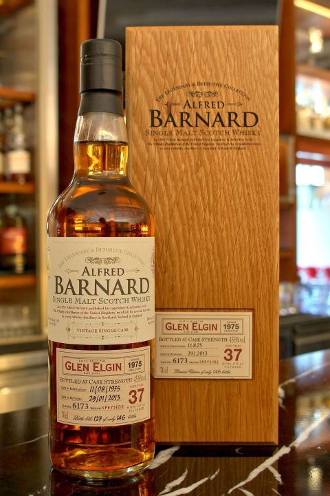 (現貨) ALFRED BARNARD Glen Elgin 1975 37 years Single Cask 格蘭愛琴 1975 37年 單桶原酒 (700ml 48.5%)