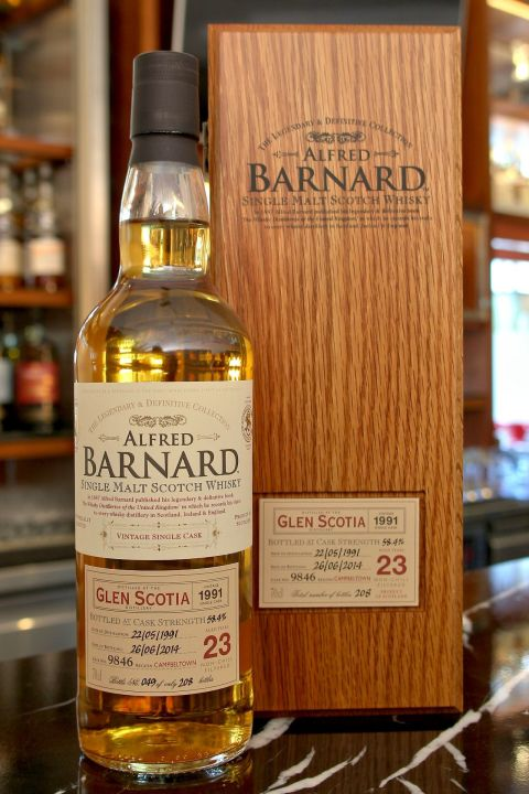 (現貨) ALFRED BARNARD Glen Scotia 1991 23 years Single Cask 格蘭帝 1991 23年 單桶原酒 (700ml 58.4%)