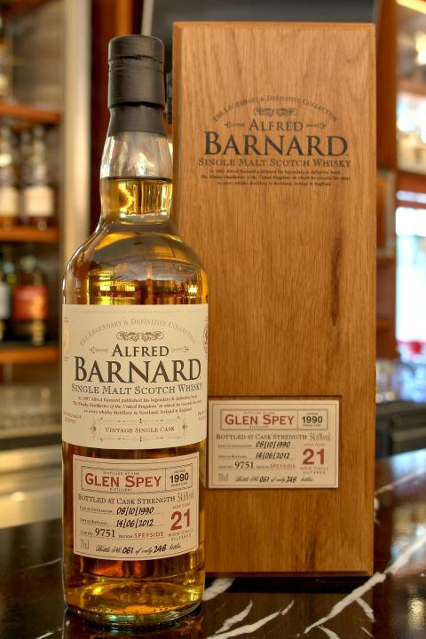 ALFRED BARNARD Glen Spey 1990 21 years Single Cask 格蘭斯佩 1990 21年 單桶原酒 (700ml 54.6%)