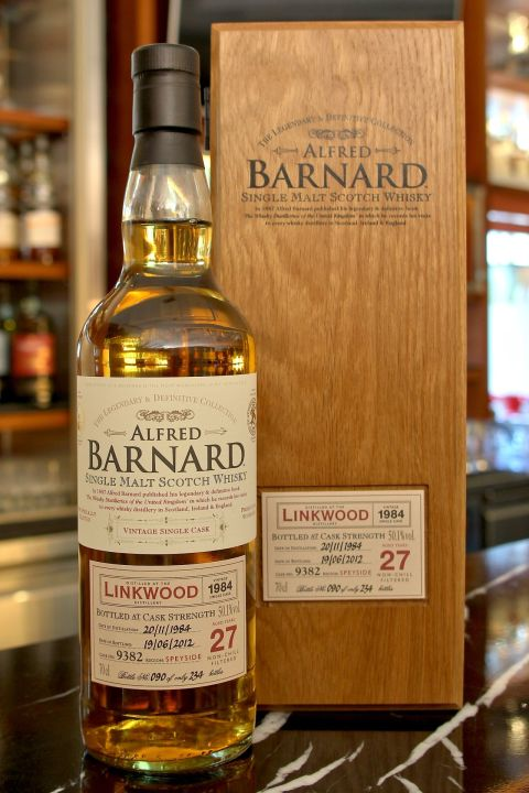 (現貨) ALFRED BARNARD Linkwood 1984 27 years Single Cask 林肯伍德 1984 27年 單桶原酒 (700ml 50.1%)