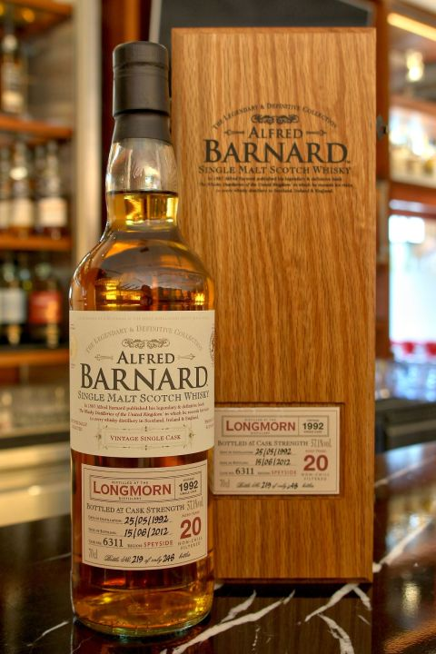 (現貨) ALFRED BARNARD Longmorn 1992 20 years Single Cask 朗摩 1992 20年 單桶原酒 (700ml 57.1%)