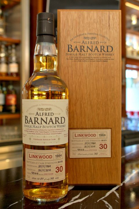 (現貨) ALFRED BARNARD Linkwood 1984 30 years Single Cask 林肯伍德 1984 30年 單桶原酒 (700ml 54.5%)