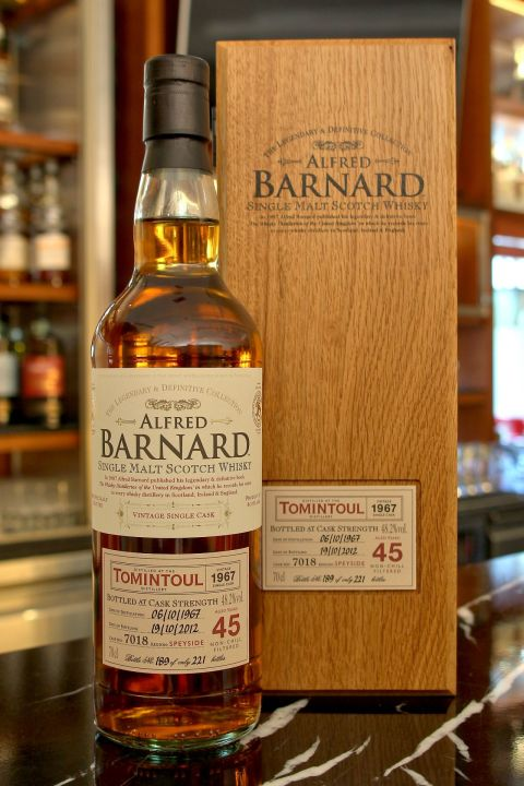 (現貨) ALFRED BARNARD Tomintoul 1967 45 years Single Cask 都明多 1967 45年 單桶原酒 (700ml 48.2%)