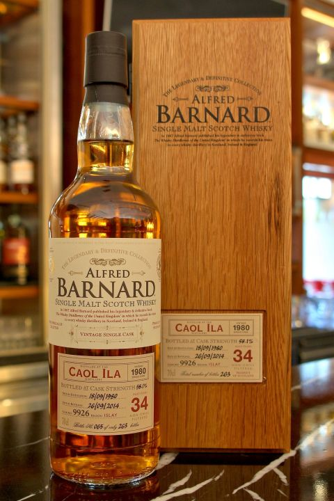 (現貨) ALFRED BARNARD Caol Ila 1980 34 years Single Cask 卡爾里拉 1980 34年 單桶原酒 (700ml 58.1%)