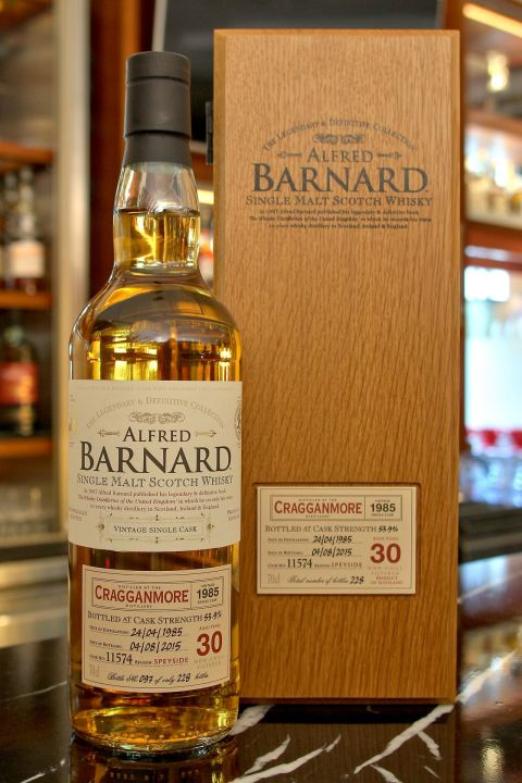 (現貨) ALFRED BARNARD Cragganmore 1985 30 years Single Cask 克拉格摩爾 1985 30年 單桶原酒 (700ml 53.9%)