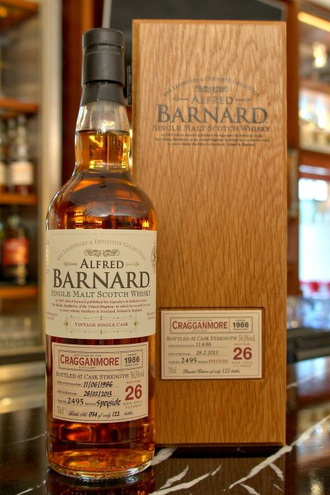 (現貨) ALFRED BARNARD Cragganmore 1986 26 years Single Cask 克拉格摩爾 1986 26年 單桶原酒 (700ml 56.5%)