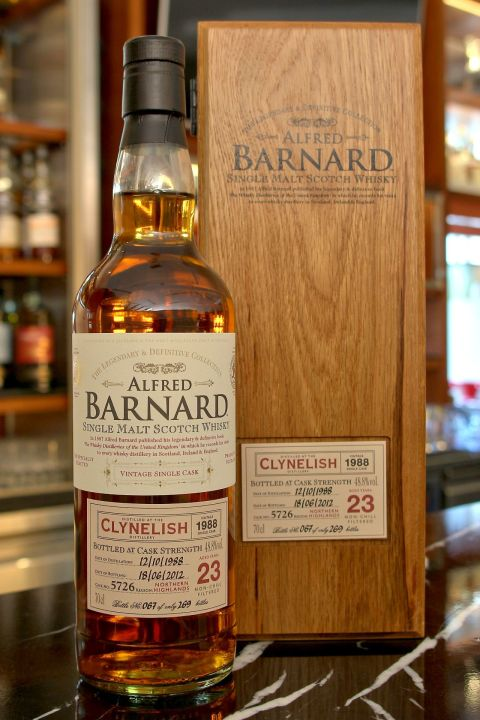 (現貨) ALFRED BARNARD Clynelish 1988 23 years Single Cask 克萊力士 1988 23年 單桶原酒 (700ml 56.5%)