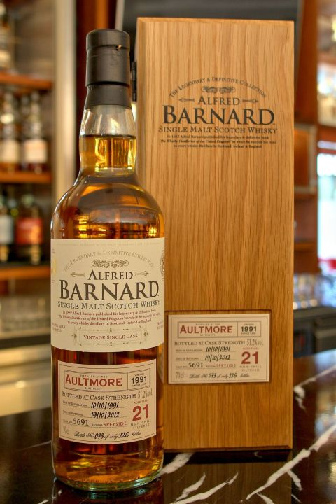 (現貨) ALFRED BARNARD Aultmore 1991 21 years Single Cask 雅墨 1991 21年 單桶原酒 (700ml 51.2%)