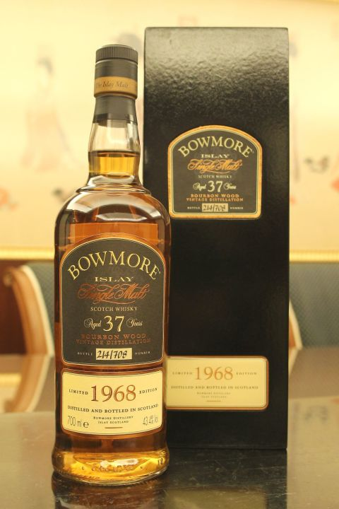 (現貨) ​BOWMORE 1968 37 years  Bourbon wood 波摩 1968 37年 波本桶  (700ml 43.4%)