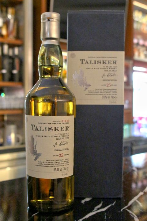 (現貨) TALISKER 25 years Bottled 2004 大力斯可 25年 原酒  2004年版 (700ml 57.8%)