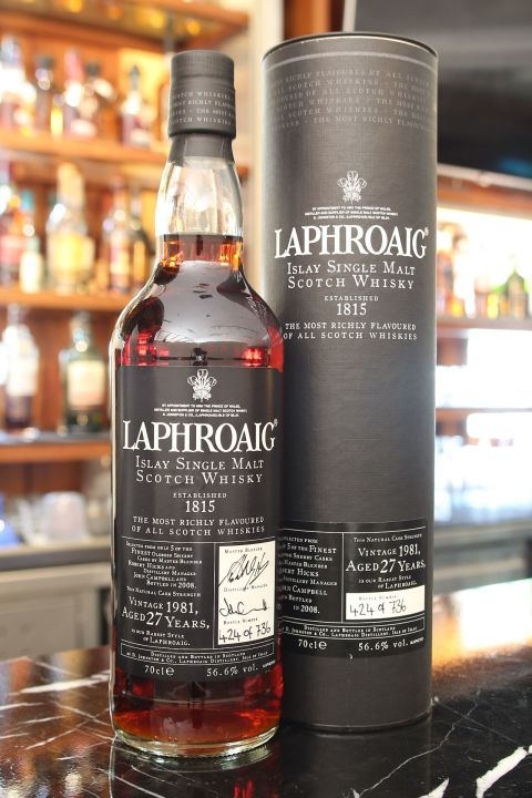 (現貨) LAPHROAIG 1981 27 years Sherry Cask 拉佛格 1981 27年 雪莉桶 原酒 (700ml 56.6%)