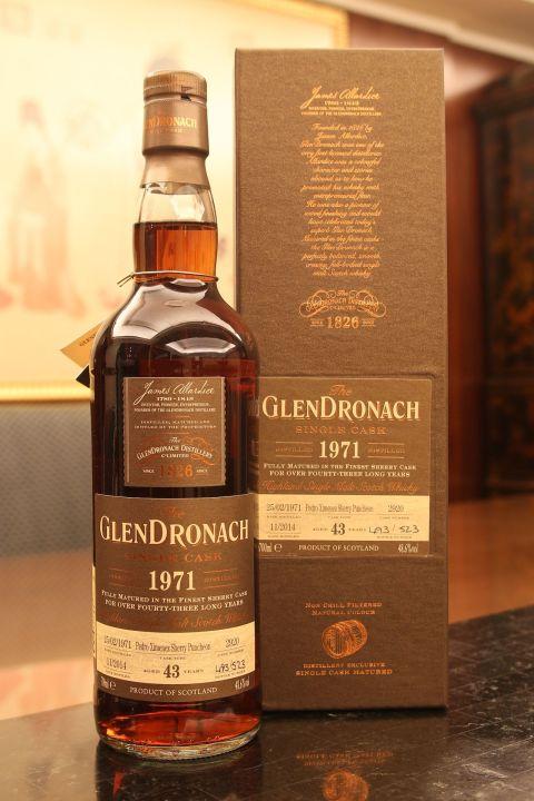 GLENDRONACH 1971 43 years single cask 格蘭多納 1971 43年 PX雪莉桶 單桶 (700ml 48.6%)