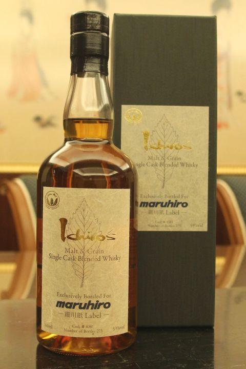 (現貨) CHICHIBU Ichiro's Malt & Grain Blended Whisky Single Cask 秩父 細川紙 單桶 (700ml 59%)