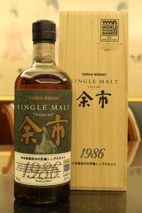 Yoichi 1986 20 years 余市 1986年 20年原酒 WWA受賞限定版 (700ml 55%)