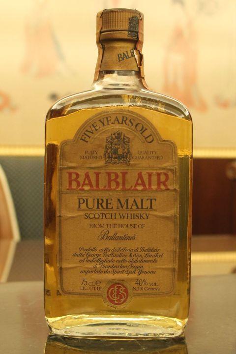 (現貨) BALBLAIR 5 years bottled 1980's 巴布萊爾 5年 純麥威士忌 絕版老品 (750ml 40%)