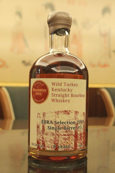 (現貨) Wild Turkey 8 years Single Barrel Bourbon Whiskey 野火雞 8年 歐洲波本裸麥協會選桶 (700ml 50.5%)
