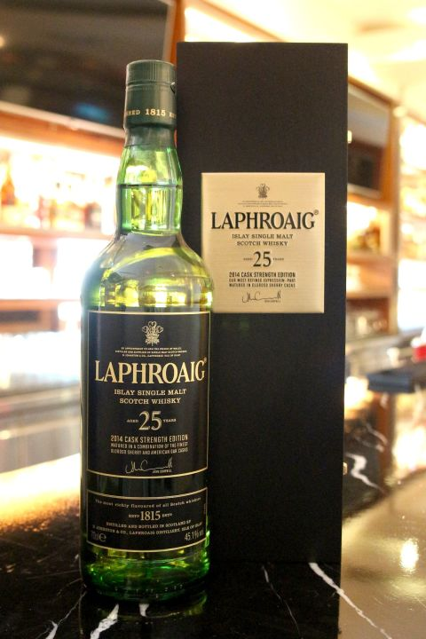 (現貨) LAPHROAIG 25 years Cask Strength 2014 拉佛格 25年原酒 2014版 (700ml 45.1%)