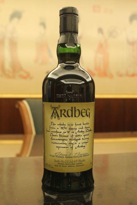 (現貨) Ardbeg 1976 Manager's Choice Single Sherry Cask 阿貝 1976 酒廠精選 雪莉單桶 (700ml 56%)