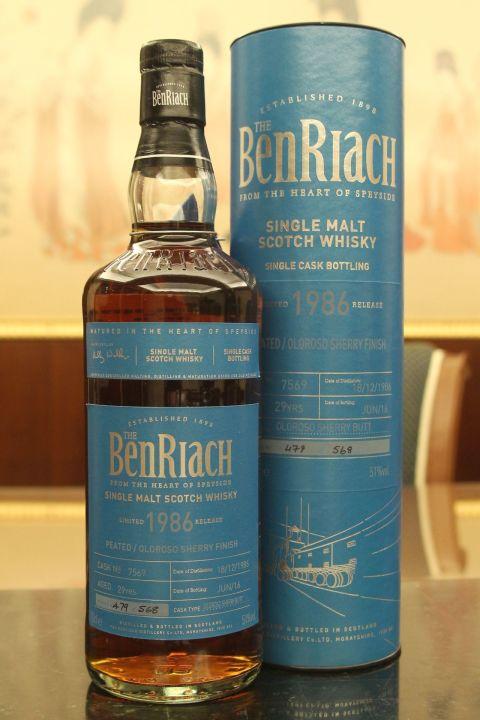 (現貨) BenRiach 1986 29 years Single Cask Batch 13 班瑞克 1986 29年 單桶原酒 第13批次 (700ml 51%)