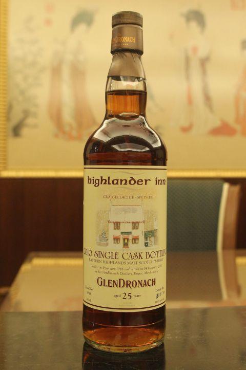 Glendronach 1985 25 year Single Cask for Highlander Inn 格蘭多納 1985 25年 高地人小酒館 年度選桶 (700ml 52.9%)