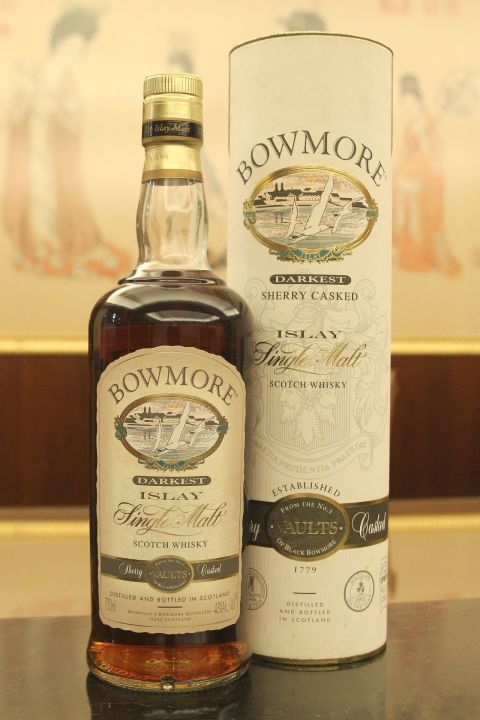 (現貨) ​BOWMORE DARKEST Sherry Casked old version 波摩 湛黑 雪莉風味桶 舊版 (750ml 43%)