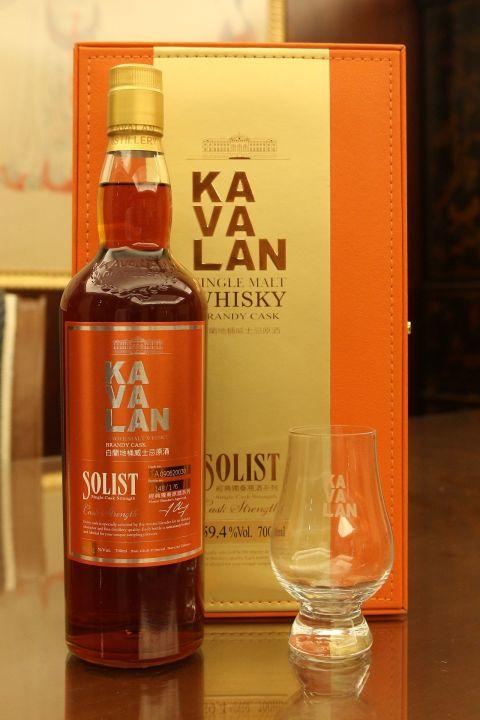 (現貨) Kavalan Solist Brandy Cask Glass Set 噶瑪蘭 經典獨奏 白蘭地桶原酒 橘標 禮盒 (700ml 59.4%)