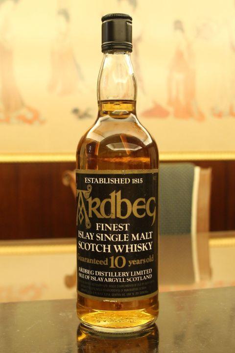 (現貨) Ardbeg 10 years bottled 1980s 雅柏 10年 舊版 旋蓋透明瓶 (750ml 40%)
