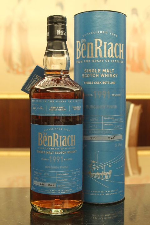 (現貨) BenRiach 1991 24 years Burgundy Finish Batch 13 班瑞克 1991 24年 勃根地桶 第13批次 (700ml 50.6%)