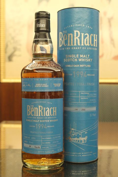(現貨) BenRiach 1994 22 years Peated/Tokaj Finish Batch 13 班瑞克 1994 22年 泥煤貴腐酒桶 第13批次 (700ml 55.1%)