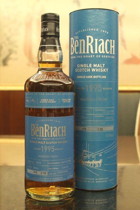 (現貨) BenRiach 1995 20 years Madeira Finish Batch 13 班瑞克 1995 20年 馬德拉桶 第13批次 (700ml 53.9%)