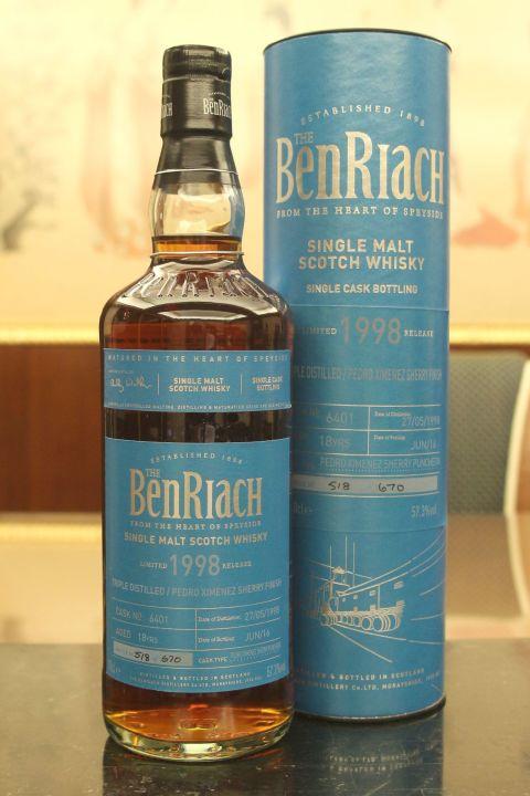 (現貨) BenRiach 1998 18 years PX Sherry Finish Batch 13 班瑞克 1998 18年 PX雪莉桶 第13批次 (700ml 57.3%)