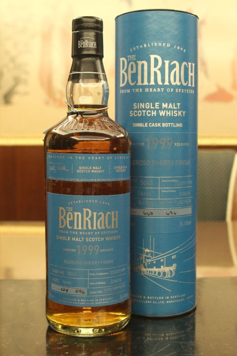 (現貨) BenRiach 1999 16 years Oloroso Sherry Finish Batch 13 班瑞克 1999 16年 雪莉桶 第13批次 (700ml 56.4%)