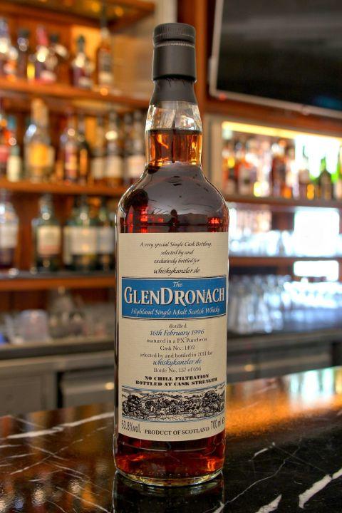 (現貨) GLENDRONACH 1996 PX Puncheon 格蘭多納 1996 PX雪莉桶 單桶原酒 (700ml 53.8%)