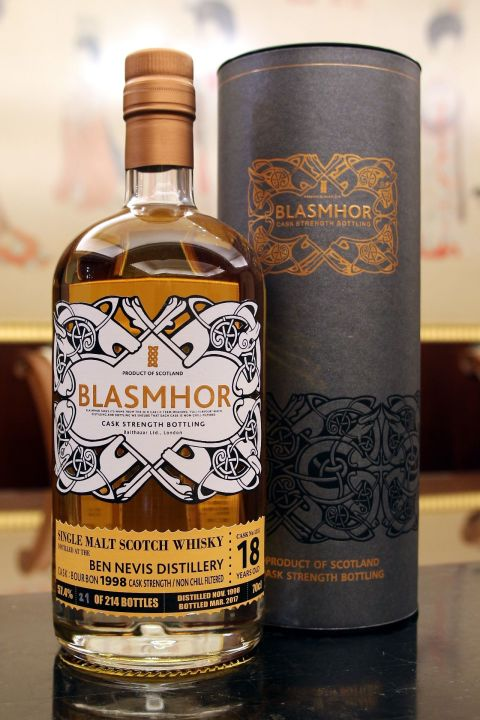 (現貨) Blasmhor - Ben Nevis 1998 18 Years Cask Strength 威仕摩 - 班尼富 1998 18年 單桶原酒 (700ml 57.4%)