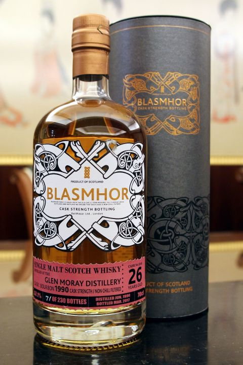 (現貨) Blasmhor - Glen Moray 1990 26 Years Cask Strength 威仕摩 - 格蘭莫雷 1990 26年 單桶原酒 (700ml 57.1%)