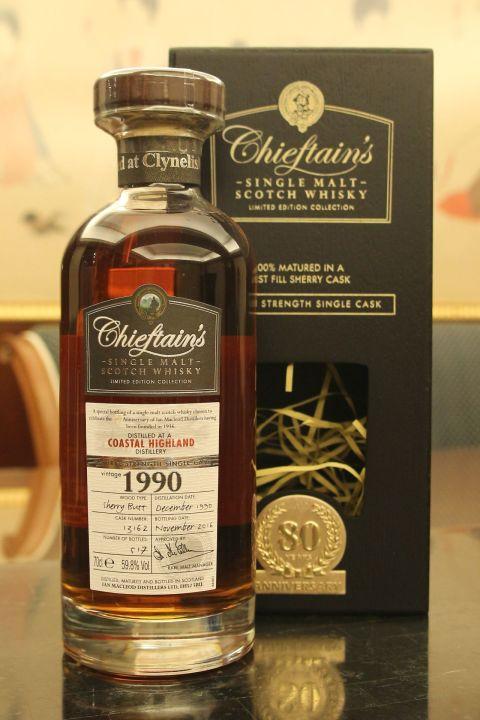 Chieftain's - Clynelish 1990 老酋長 80週年紀念款 雪莉桶原酒 (700ml 59.8%)