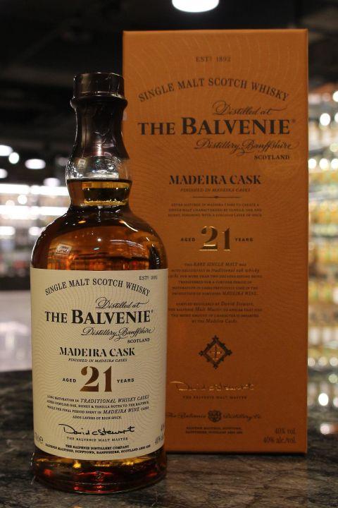 (現貨) The BALVENIE 21 years MADEIRA Cask 百富 21年 馬德拉桶 (700ml 40%)