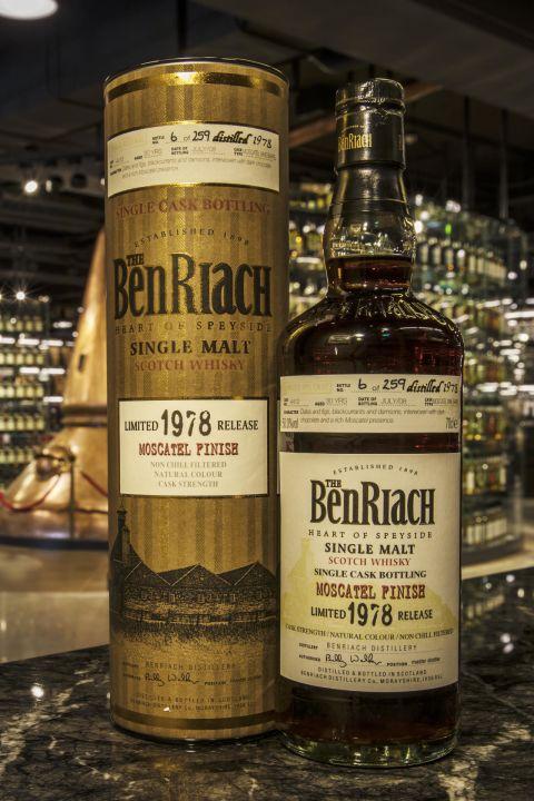 BenRiach 1978 30 years Moscatel Finish 班瑞克 1978 30年 麝香葡萄酒桶 (700ml 50%)