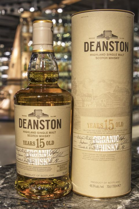 (現貨) Deanston 15 Years Organic Whisky 汀士頓 15年 雙認證有機威士忌 (700ml 46.3%)